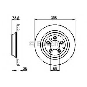 Тормозной диск 0986479259 bosch - PORSCHE CAYENNE (955) вездеход закрытый Turbo S 4.5