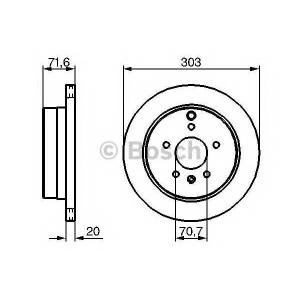 BOSCH 0 986 479 268 Тормозной диск (пр-во Bosch)
