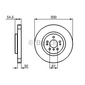 BOSCH 0986479269 Гальмівний диск MERCEDES ML(164)3,2-3,5CDI F \05>>