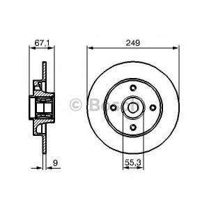 Тормозной диск 0986479279 bosch - CITRO?N C4 (LC_) Наклонная задняя часть 1.4 16V