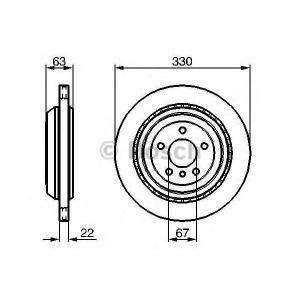 BOSCH 0986479285 Тормозной диск задн. вент. DB GL ,ML, R 251 05- (330*22)