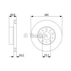 BOSCH 0 986 479 297 Тормозной диск (пр-во Bosch)