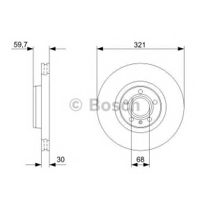 BOSCH 0986479300 Гальмівний диск AUDI A6/A8 F \04>>
