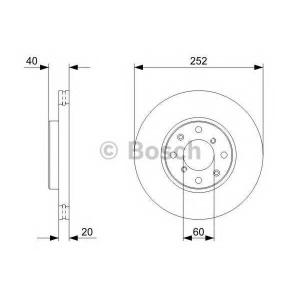 Тормозной диск 0986479308 bosch - SUZUKI SPLASH Наклонная задняя часть 1.2 VVT