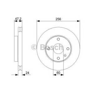 BOSCH 0 986 479 328 Диск тормозной CHEVROLET LACETTI (пр-во Bosch)