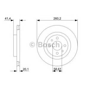 Тормозной диск 0986479346 bosch - LADA PRIORA универсал (2171) универсал 1.6