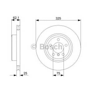 Тормозной диск 0986479348 bosch - BMW X3 (E83) вездеход закрытый xDrive 20 d