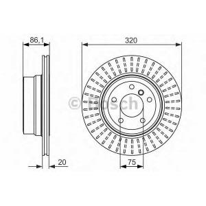 BOSCH 0986479351 Тормозной диск