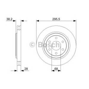 Тормозной диск 0986479356 bosch - NISSAN NAVARA (D40) пикап 2.5 dCi 4WD