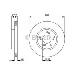 BOSCH 0 986 479 365 Тормозной диск
