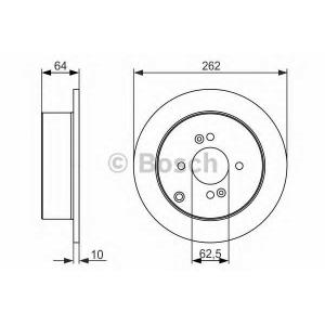 BOSCH 0986479371 Гальмівний диск HYUNDAI/KIA Accent/Getz/i20/Rio R \05>>