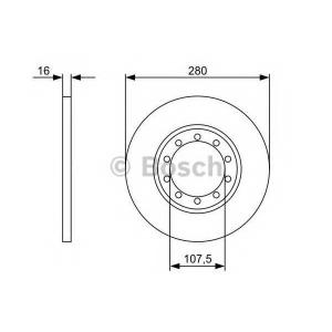Тормозной диск 0986479390 bosch - FORD TRANSIT автобус автобус 2.2 TDCi [RWD]