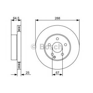 0986479406 bosch Тормозной диск MERCEDES-BENZ C CLASS универсал C 180 CGI (204.249)
