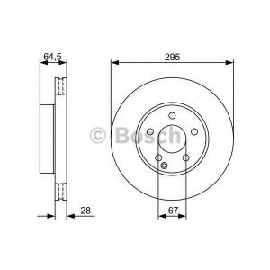 Тормозной диск 0986479407 bosch - MERCEDES-BENZ C CLASS T-Model (S204) универсал C 250 CGI (204.247)