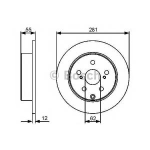 BOSCH 0 986 479 419 Тормозной диск (пр-во Bosch)