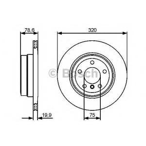 BOSCH 0 986 479 442 Тормозной диск (пр-во Bosch)