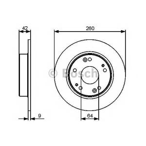 BOSCH 0 986 479 451 Тормозной диск (пр-во Bosch)