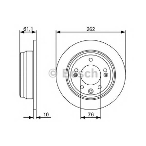 BOSCH 0986479508 Гальмівний диск HYUNDAI/KIA i30,Ceed 1,4-2,0 06- R