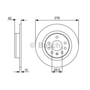 BOSCH 0986479515 Тормозной диск