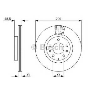 BOSCH 0 986 479 542 Тормозной диск (пр-во Bosch)