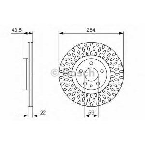 BOSCH 0 986 479 558 Тормозной диск Фиат 500Л