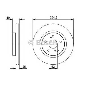 BOSCH 0 986 479 559 Тормозной диск (пр-во Bosch)