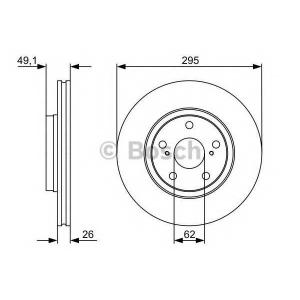 BOSCH 0986479560 Тормозной диск