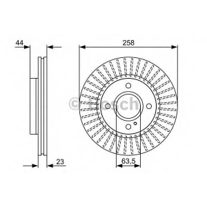Тормозной диск 0986479566 bosch - FORD FIESTA VI Наклонная задняя часть 1.6 Ti