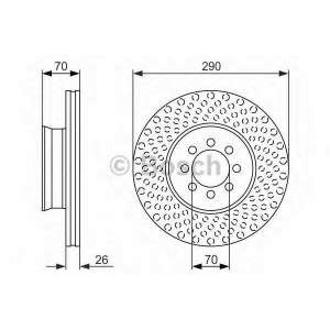 BOSCH 0 986 479 602 Тормозной диск Мерседес Спринтер 4Т