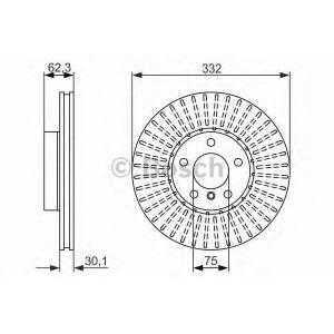 BOSCH 0986479624 Гальмівний диск BMW X5(E70),X6(E71) 07- F