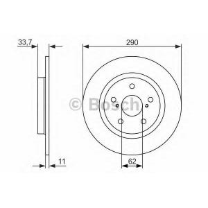 BOSCH 0 986 479 656 Тормозной диск