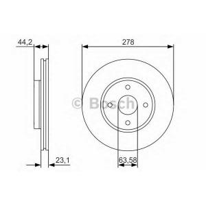 BOSCH 0 986 479 659 Тормозной диск Форд Б-Макс