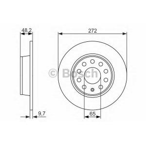 BOSCH 0986479677 Гальмівний диск SEAT/SKODA/VW Leon,Altea,Octavia,Superb,Yeti,Caddy,Golf,Jetta,Touran 04- R