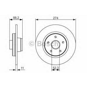 Тормозной диск 0986479695 bosch - RENAULT KANGOO Express (FW0/1_) фургон 1.5 dCi 75