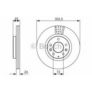 BOSCH 0 986 479 700 Тормозной диск Мазда Р-Икс 8