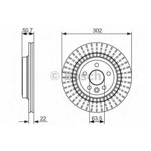 BOSCH 0986479713 Тормозной диск