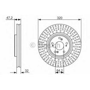 BOSCH 0 986 479 741 Тормозной диск