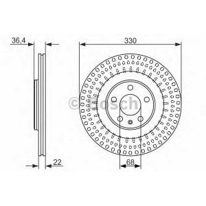 BOSCH 0 986 479 750 Тормозной диск Ауди А7 Спортбэк
