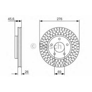Тормозной диск 0986479783 bosch - MITSUBISHI LANCER седан (CS_A) седан 2.0 i