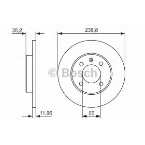 0986479825 bosch Тормозной диск AUDI 80 седан 1.5