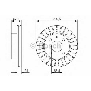Тормозной диск 0986479836 bosch - FORD ESCORT III (GAA) Наклонная задняя часть 1.6 i (GAA)