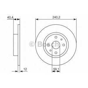 BOSCH 0 986 479 858 Тормозной диск Фиат Типо
