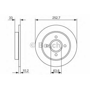 BOSCH 0 986 479 859 Тормозной диск Форд Сиерра