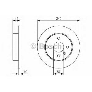 Тормозной диск 0986479918 bosch - OPEL ASTRA G седан (F69_) седан 1.6 16V