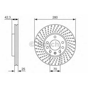 Тормозной диск 0986479919 bosch - VAUXHALL MERIVA Mk II (B) вэн 1.3 CDTi