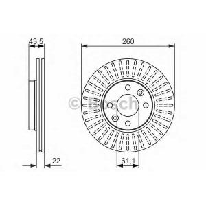 Тормозной диск 0986479943 bosch - DACIA LOGAN пикап (US_) пикап 1.6 MPI 85