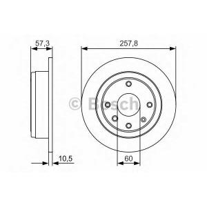 0986479985 bosch Тормозной диск CHEVROLET NUBIRA седан 1.4