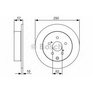 Тормозной диск 0986479989 bosch - TOYOTA COROLLA Verso (ZER_, ZZE_, R1_) вэн 1.6