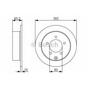 BOSCH 0986479A41 Гальмівний диск MITSUBISHI Lancer \1.5-2 \07>>