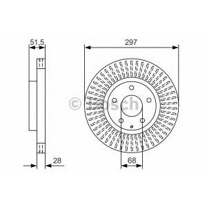 BOSCH 0 986 479 B15 Тормозной диск Мазда Ц-Икс 5
